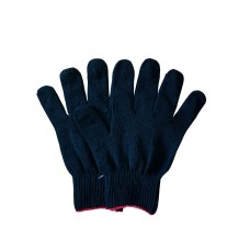 Перчатки вязаные без точки, плотные (темно-синие)