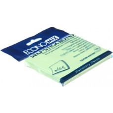 Блок для заміток з клейким шаром 50 * 75 мм Economix, 100 л., Жовтий