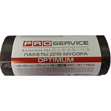 PRO пакет для мусора п / э 70 * 105 черный LD 120л / 10 шт, OPTIMUM (25шт / ящ)