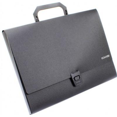 Портфель пластиковый А4 на застежке под нанесение, 1 отделение, черная
