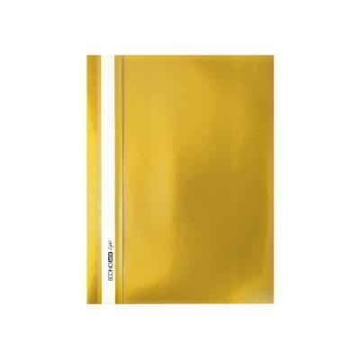 """Папка-скоросшиватель Economix Light без перфорации, фактура """"апельсин"""", желтая"""