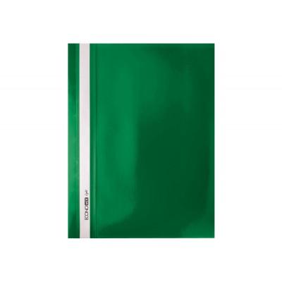 """Папка-скоросшиватель Economix Light без перфорации, фактура """"апельсин"""", зеленая"""