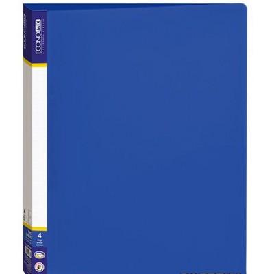 Папка пластиковая А4 Economix а 4 кольца, синяя