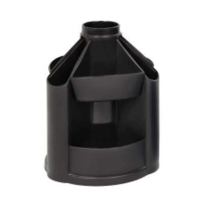 Подставка настольная В21 Economix, вращается на 360, пластик, черная