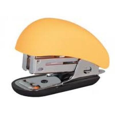 Скоросшиватель №24 / 6, 26/6 мини Optima до 12 л, Soft Touch, пласт. корпус, оранжевый