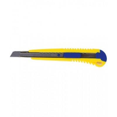 Нож универсальный 9 мм, мет. направляющая, пласт. корпус