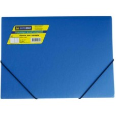 Папка пласт А4 на резинках, синий