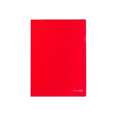 """Папка-уголок А4 Economix, 180 мкм, фактура """"глянец"""", красная"""