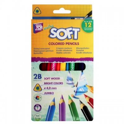 """Карандаши цветные """"Extra Soft"""", 12 цветов, треугольные"""