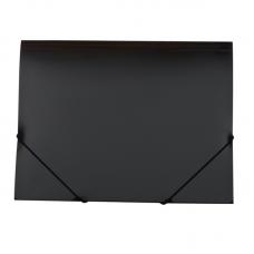 Папка пластиковая А4 на резинках Jobmax, черный