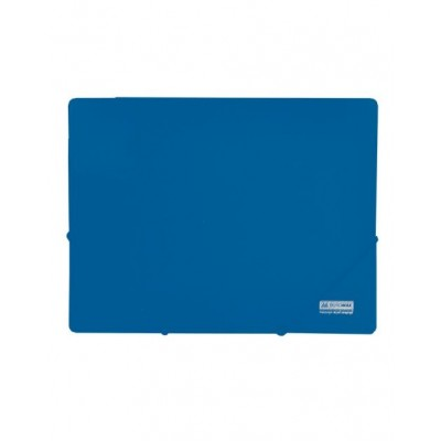 Папка пластиковая А4 на резинках Jobmax, синий