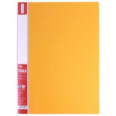 Папка-скоросшиватель А4 с пружинным механизмом Economix CLIP A, желтая