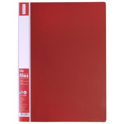 Папка-скоросшиватель А4 с пружинным механизмом Economix CLIP A, красная