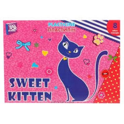 Пластилин Sweet Kitten, 8 цветов, 180 г, картон
