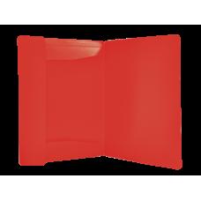 Папка пластиковая А4 на резинках Jobmax, красный