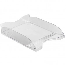 Лоток для бумаг, горизонтальный Economix, пластик, прозрачный