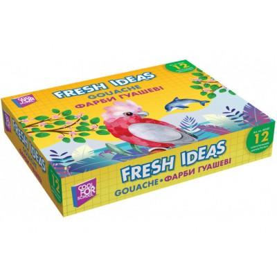 Краска гуашевая Fresh Ideas, 12 цветов (по 10 см3)