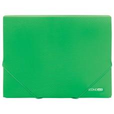 """Папка пластиковая А4 на резинках Economix, фактура """"апельсин"""", зеленый"""