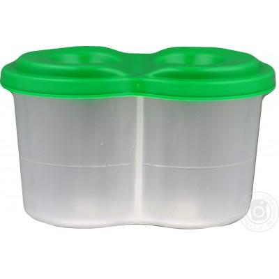 Стакан для кистей непроливайка двойной, пластиковый, цветной