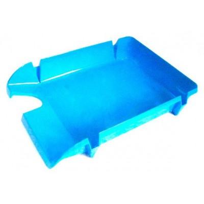 Лоток для бумаг горизонтальный Economix, пластик, голубой непрозрачный