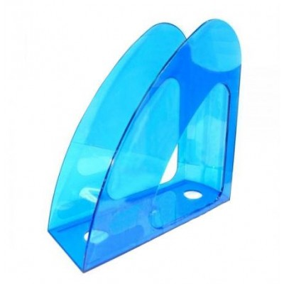 """Лоток для бумаг вертикальный """"Радуга"""" Economix, пластик, синий"""