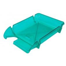 """Лоток для бумаг горизонтальный """"Компакт"""" Economix, пластик, салатовый"""