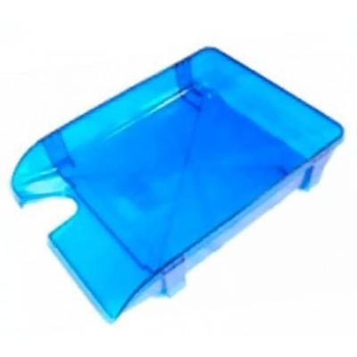 Лоток для бумаг горизонтальный Economix, пластик, синий