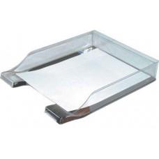 Лоток для бумаг горизонтальный Economix, пластик, серый