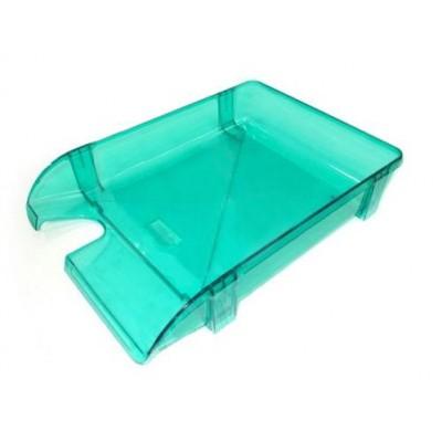 Лоток для бумаг горизонтальный Economix, пластик, салатовый