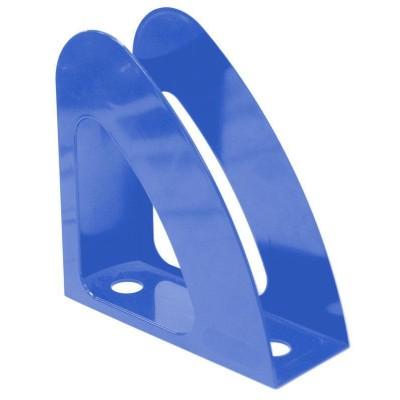 """Лоток для бумаг вертикальный """"Радуга"""" Economix, пластик, голубой непрозрачный"""