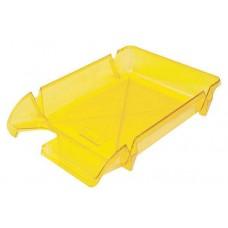 """Лоток для бумаг горизонтальный """"Компакт"""" Economix, пластик, лимонный"""