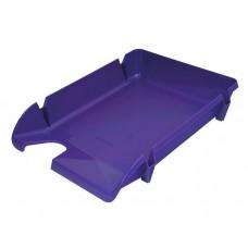 """Лоток для бумаг горизонтальный """"Компакт"""" Economix, пластик, фиолетовый"""