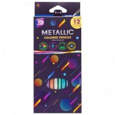 """Карандаши цветные """"Metallic"""", 12 цветов, трехгранные"""