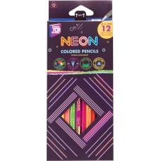 """Карандаши цветные """"Neon"""", 12 цветов, трехгранные"""