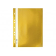 Папка - скоросшиватель А4 Economix с перфорацией, фактура апельсин, желтая