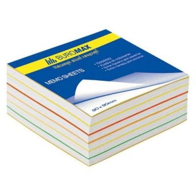 Блок листов для заметок «Радуга» BuroMax 90х90х40 мм, не скл
