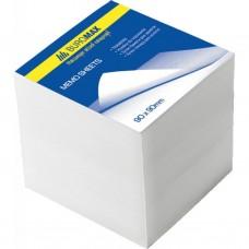 Блок белой бумаги для заметок BuroMax 90х90х90 мм, не скл