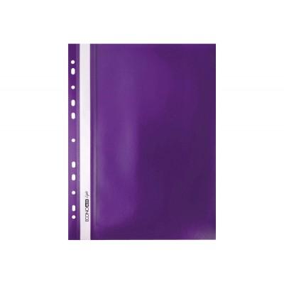 """Папка-скоросшиватель А4 Economix Light с перфорацией, фактура """"Матовая"""", фиолетовая"""