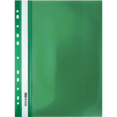 """Папка-скоросшиватель А4 Economix Light с перфорацией, фактура """"Апельсин"""", зеленая"""