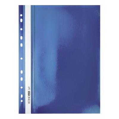 """Папка-скоросшиватель А4 Economix Light с перфорацией, фактура """"Глянец"""", синяя"""