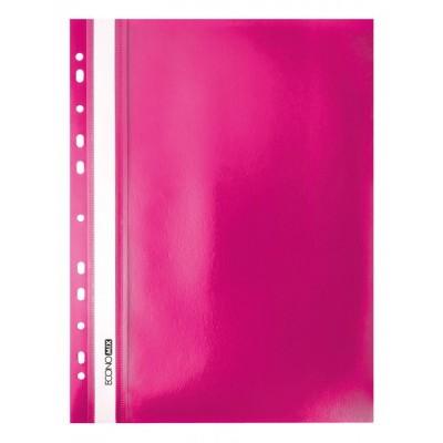 """Папка-скоросшиватель А4 Economix Light с перфорацией, фактура """"Матовая"""", розовая"""
