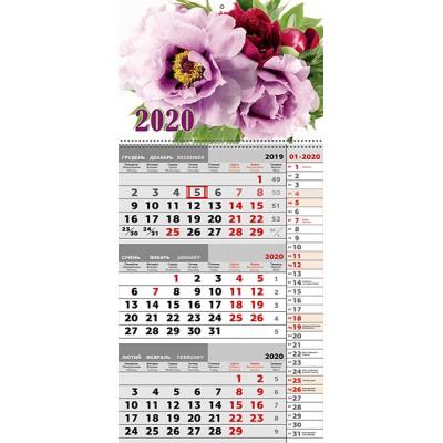 Календарь квартальный Пионы 2020