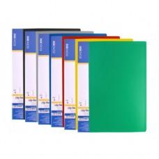 Папка А4 с 10 файлами Economix, зеленая