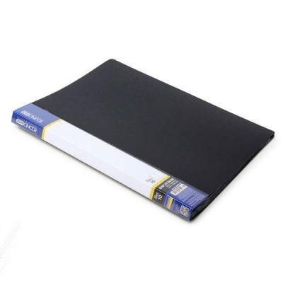 Папка А4 с 10 файлами Economix, черная