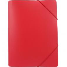 Папка пластиковая А4 на резинках Format, фактура апельсин, красная