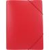 Папка пластиковая А4 на резинках Format, фактура апельсин, красная - Фото 2