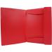 Папка пластиковая А4 на резинках Format, фактура апельсин, красная - Фото 3