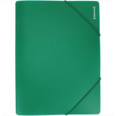 Папка пластиковая А4 на резинках Format, фактура апельсин, зеленая
