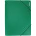 Папка пластиковая А4 на резинках Format, фактура апельсин, зеленая - Фото 2