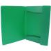 Папка пластиковая А4 на резинках Format, фактура апельсин, зеленая - Фото 4